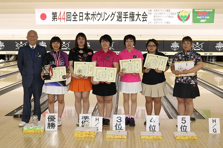 第44回全日本ボウリング選手権大会女子入賞者